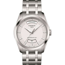 Men's White Couturier Stainless Steel Analogue Tissot Watch T0354071103101