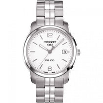 Men's White PR 100 Stainless Steel Analogue Tissot Watch T0494101101700