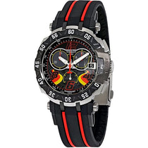 Men's Black T-Race Stefan Bradl Rubber Chronograph Tissot Watch T0924172705702