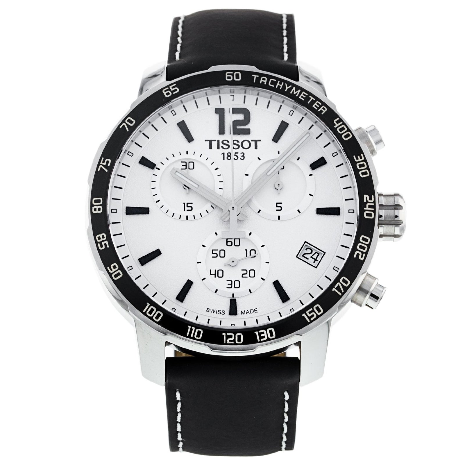 Men's Quickster Leather Chronograph Tissot Watch T095.417.16.037.00