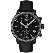Men's Black Leather Quickster Chronograph Tissot Watch T095.417.36.057.02