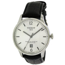 Men's Black Chemin Des Tourelles Leather Analogue Tissot Watch T0994071603700