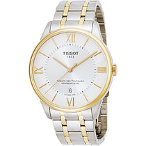 Men's White Chemin Des Tourelles Stainless Steel Analogue Tissot Watch T0994072203800