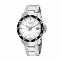 Men's White V8 Stainless Steel Analogue Tissot Watch T1064071103100