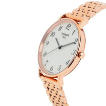 Ladies Rose Gold T-Classic Everytime Stainless Steel Analogue Tissot Watch T1096103303200