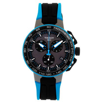 Men's Blue-Black T-Race Cycling Leather Chronograph Tissot Watch T1114173744105