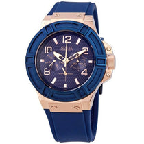Men's Blue Rigor Rubber Analogue Guess Watch W0247G3