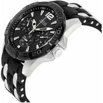 Men's Black Classic Rubber Chronograph Guess Watch W0366G1