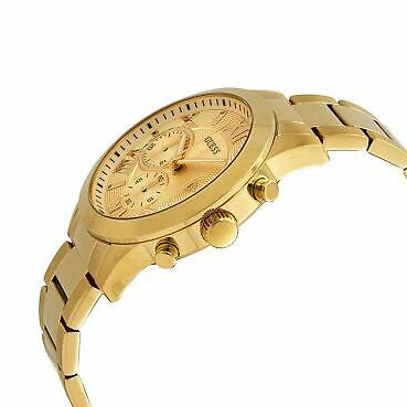 Men's Gold Classic Chronograph Stainless Steel Analogue Guess Watch W0668G4