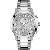 Men's Silver Classic Stainless Steel Chronograph Guess Watch W0668G7