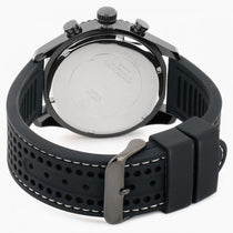 Men's Black Fleet Rubber Analogue Guess Watch W0971G1