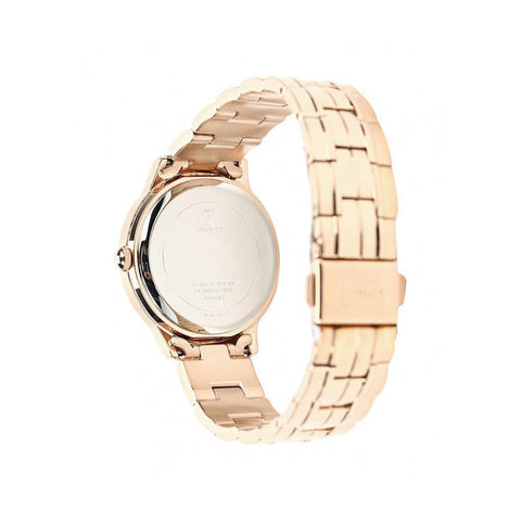 Ladies Rose Gold Chelsea Stainless Steel Analogue Guess Watch W0989L3