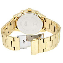 Ladies Gold Solar Stainless Steel Chronograph Guess Watch W1069L2