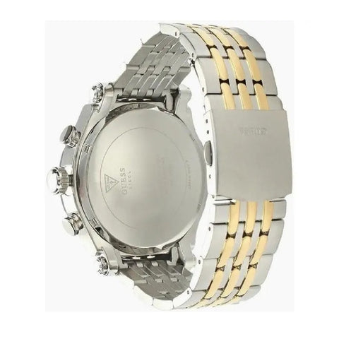 Men's Silver-gold Anchor Stainless Steel Chronograph Guess Watch W1104G1