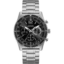 Men's Black Launch Stainless Steel Chronograph Guess Watch W1106G1