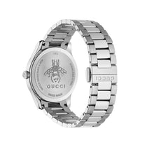 Ladies White G-Timeless Bee Stainless Steel Analogue Gucci Watch YA1265019