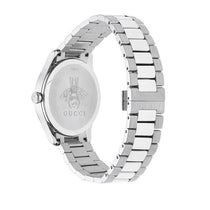 Ladies White G-Timeless Stainless Steel Analogue Gucci Watch YA126595