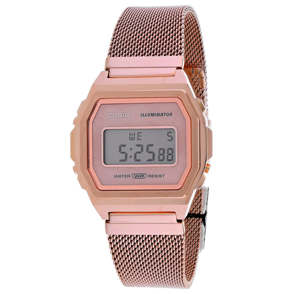 Men's Rose Gold Vintage Stainless Steel Digital Casio Watch A1000MPG-9VT