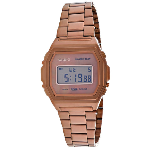 Men's Rose Gold Vintage Stainless Steel Digital Casio Watch A1000RG-5VT