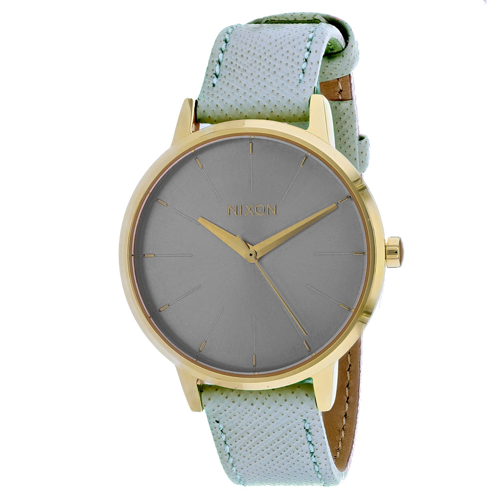 Ladies Green Kesington Leather Leather Analogue Nixon Watch A108-2814