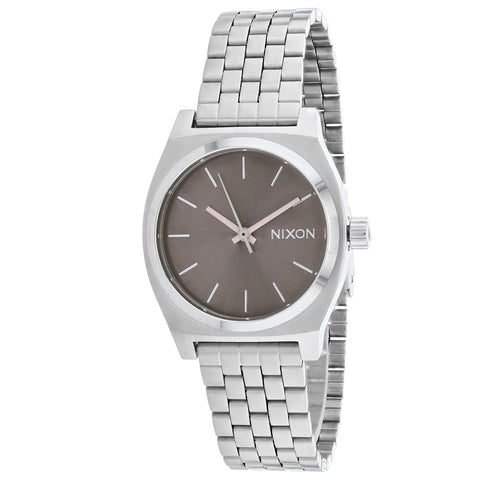 Ladies Silver Medium Time Teller Stainless Steel Analogue Nixon Watch A1130-3161