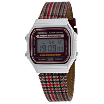 Ladies Multi Color Vintage Leather Digital Casio Watch A168WEFL-5AVT