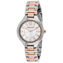 Ladies Two Tone Dress Stainless Steel Analogue Anne Klein Watch AK-3109SVRT