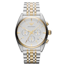 Men's Two Tone Stainless Steel Chronograph Emporio Armani Watch AR0396