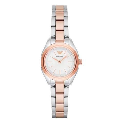 Ladies Rose Gold Two Tone Stainless Steel Emporio Armani Watch AR11029