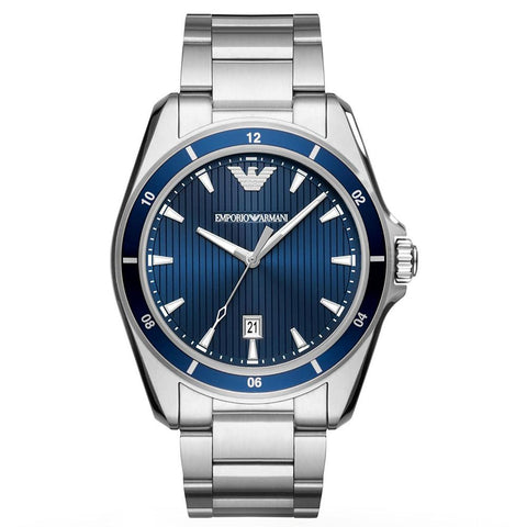Men's Sigma Blue Dial Stainless Steel Emporio Armani Watch AR11100