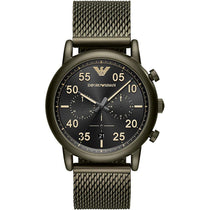 Men's Sport Khaki Green Steel Mesh Bracelet Emporio Armani Watch AR11115