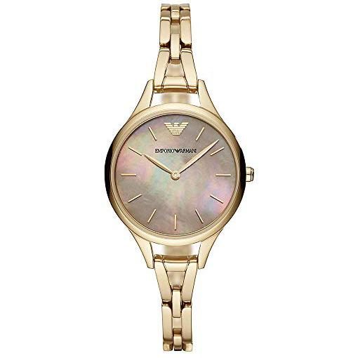 Ladies Aurora Gold Stainless Steel Bracelet Emporio Armani Watch AR11140
