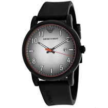 Men's Black Rubber Analogue Emporio Armani Watch AR11176