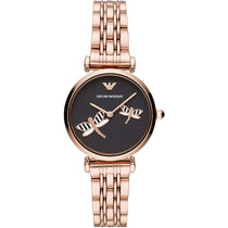 Ladies Gianni T-Bar Rose Gold Emporio Armani Watch AR11206