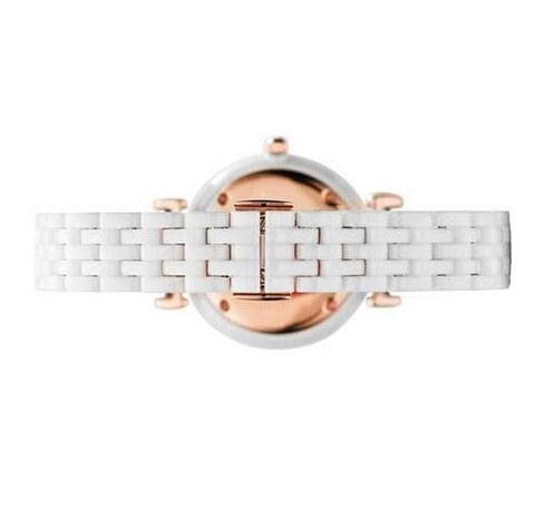 Ladies White Ceramic Bracelet Emporio Armani Watch AR1486