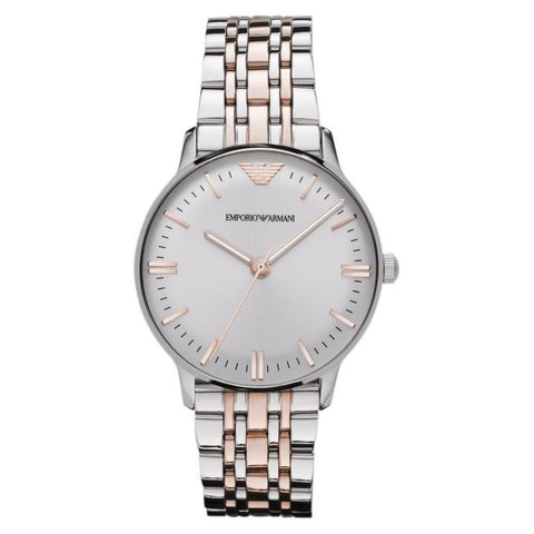 Ladies Two Tone Stainless Steel Bracelet Emporio Armani Watch AR1603