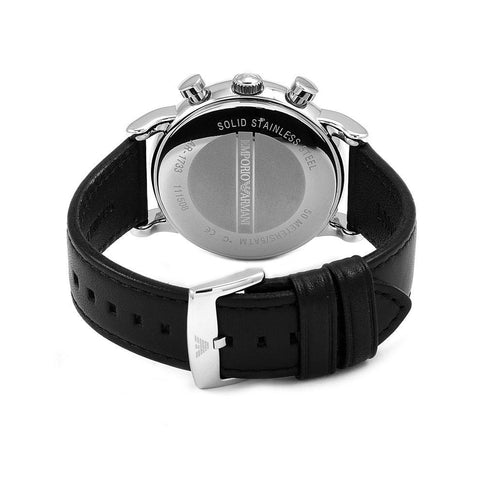 Men's Classic Black Leather Emporio Armani Watch AR1733
