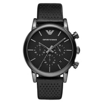 Men's Black Chronograph Stainless SteelEmporio Armani Watch AR1737