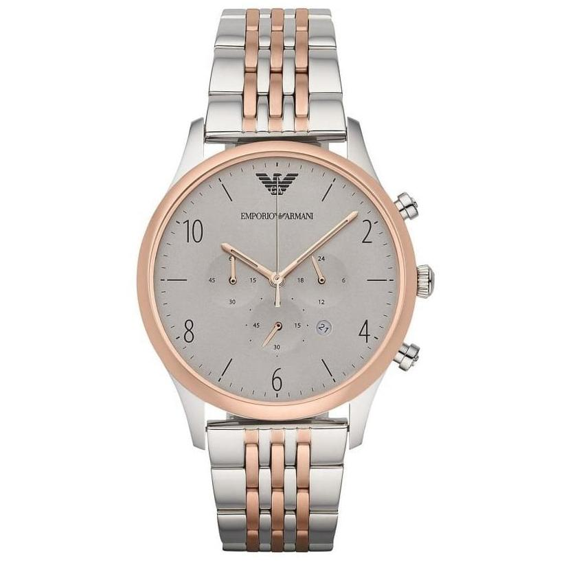 Men's Two Tone Stainless Steel Chronograph Emporio Armani Watch AR1864
