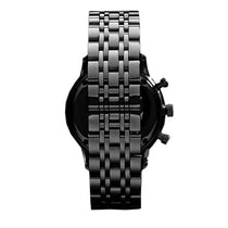 Men's Black Stainless Steel Chronograph Emporio Armani Watch AR1934