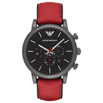 Men's Luigi Red Leather Chronograph Emporio Armani Watch AR1971