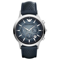 Men's Renato Blue Leather Chronograph Emporio Armani Watch AR2473