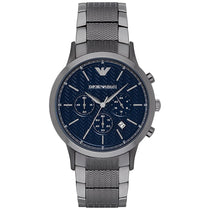 Men's Gunmetal Grey Stainless Steel Chronograph Emporio Armani Watch AR2505