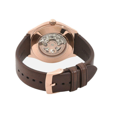 Men's Brown Leather Strap Emporio Armani Watch AR60005