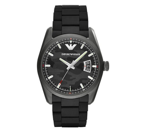 Men's Camouflage Black Stainless Steel Emporio Armani Watch AR6052