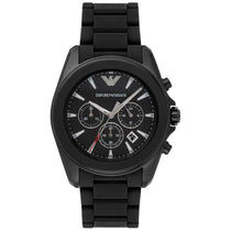 Men's Black Stainless Steel Chronograph Emporio Armani Watch AR6092