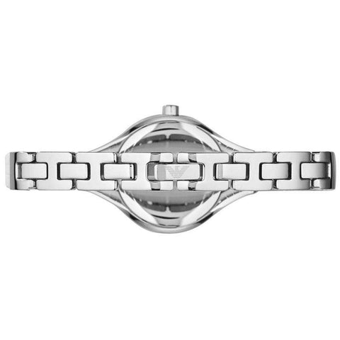 Ladies Silver Stainless Steel Crystal Emporio Armani Watch AR7353
