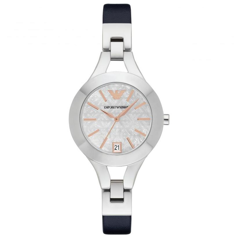Ladies Blue Bracelet Mother of Pearl Emporio Armani Watch AR7429