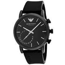 Men's Black Connected Rubber Analogue Emporio Armani Watch ART3016