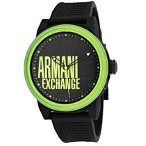 Men's Black Rubber Analogue Armani Exchange AX1583